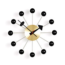 Vitra Modern Black Ball Clock by George Nelson
