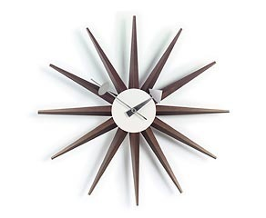 Vitra Sunburst Clock, Walnut by George Nelson