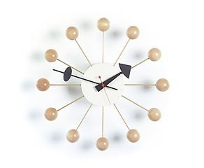 Vitra Modern Natural Ball Clock by George Nelson