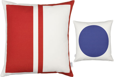 Alexander Girard Rectangles/Circle, red/blue