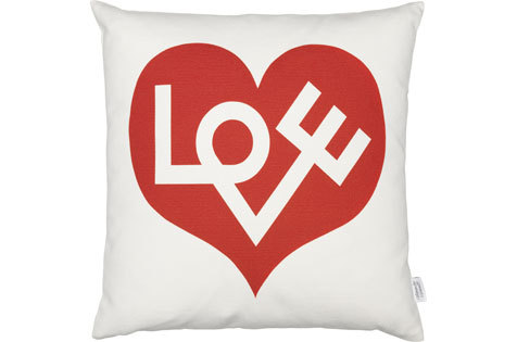 Alexander Girard Vitra Red Love Pillow